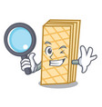 detective waffle character cartoon style vector image vector image