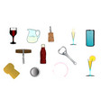 drink related icons vector image vector image