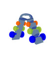 dumbbells on a stand fitness equipment vector image vector image
