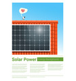 energy concept background with solar panel 7 vector image vector image