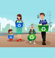 family recycling vector image