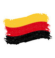 flag of germany grunge abstract brush stroke vector image