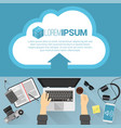 flat design cloud concept vector image vector image