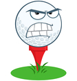 Funny golf ball expressions vector image vector image
