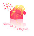 gift box with love vector image