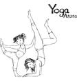 girl and woman doing yoga poses vector image vector image