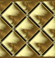 greek gold meander 3d seamless pattern abstract vector image vector image