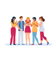group support sad person friends and family vector image vector image