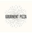 Hand drawn sunburst - gournent pizza vector image vector image
