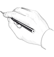 Hand with a pencil vector image vector image