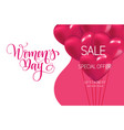 happy international women s day calligraphy vector image vector image