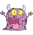 Happy Violet Monster Cartoon Character vector image