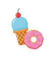 ice cream donut vector image