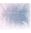 ice patterns snowflakes and frozen feathers vector image