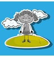 kid cloud meadow icon vector image