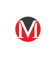 letter m icons such logos vector image vector image