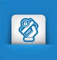 locked credit card vector image vector image