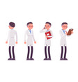 male scientist standing vector image vector image