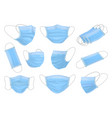 medical mask isolated cartoon set icon vector image vector image