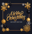 Merry christmas hand written lettering