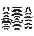 moustache mustache icon isolated setfunny fake vector image vector image