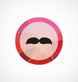 mustache circle pink triangle background icon vector image