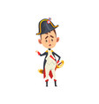napoleon bonaparte cartoon character comic french vector image vector image