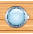 Porthole Window on a Wooden Ship Image vector image