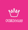 princess calligraphic inscription for invitation vector image vector image