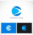 round abstract loop company logo vector image vector image