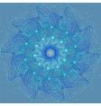 Sacred geometry cosmic mandala vector image