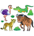 savannah animals collection 2 vector image