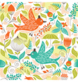 seamless pattern with a birds vector image vector image