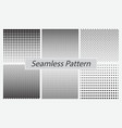 set dotted seamless pattern or halftone dot vector image