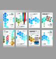 set of brochure templates flyer designs vector image