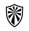 shield icon isolated on white background vector image vector image