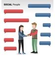 Social people print vector image