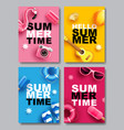 summer sale banner layout design colorful theme vector image