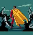 superhero ready for battle vector image vector image