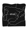Territory of Spain icon in black style isolated on vector image