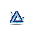 triangle penrose loop logo sign symbol icon vector image vector image