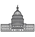 United States Capitol vector image vector image