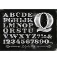 vintage alphabet chalk vector image vector image