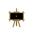 wooden easel vector image