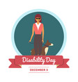 world disability day greeting card vector image vector image