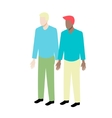 Young isometric gay couple vector image vector image