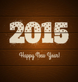 2015 on wooden background vector image vector image