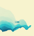 3d wavy background dynamic effect blue water vector image
