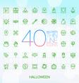 40 trendy thin icons halloween vector image