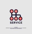 auto service logo vector image